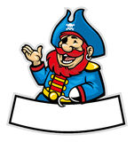 Desenhos animados do capitão do pirata Foto de Stock