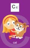 Desenhos animados do caráter C Foto de Stock Royalty Free