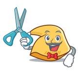 Desenhos animados do caráter da cookie de fortuna do barbeiro ilustração royalty free