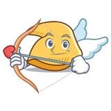 Desenhos animados do caráter da cookie de fortuna do cupido ilustração do vetor
