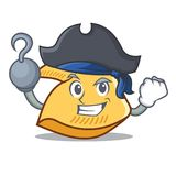 Desenhos animados do caráter da cookie de fortuna do pirata ilustração stock