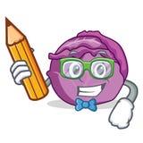 Desenhos animados do caráter da couve vermelha do estudante Fotografia de Stock Royalty Free