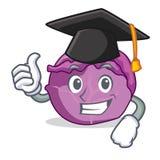 Desenhos animados do caráter da couve vermelha da graduação Fotografia de Stock