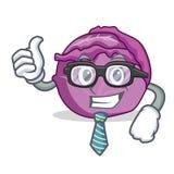 Desenhos animados do caráter da couve vermelha do homem de negócios Fotografia de Stock Royalty Free