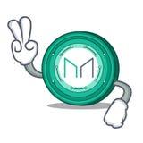 Desenhos animados do caráter da moeda do fabricante de dois dedos ilustração do vetor