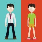 Desenhos animados do caráter do homem Foto de Stock Royalty Free