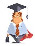 Desenhos animados do caráter do homem da lei do advogado do sorriso Imagens de Stock Royalty Free