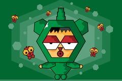 Desenhos animados do caráter do jogo Imagem de Stock