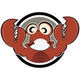 Desenhos animados do caranguejo Imagens de Stock