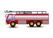Desenhos animados do carro de bombeiros Foto de Stock Royalty Free