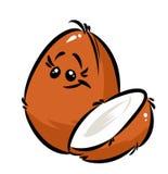 desenhos animados do coco Imagem de Stock