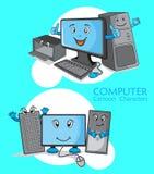 Desenhos animados do computador Fotografia de Stock