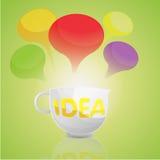 Desenhos animados do copo do negócio da ideia Ilustração Stock