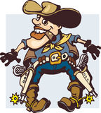 Desenhos animados do cowboy Imagens de Stock