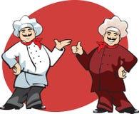Desenhos animados do cozinheiro Imagens de Stock