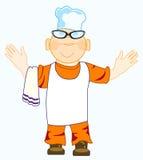 Desenhos animados do cozinheiro alegre ilustração do vetor