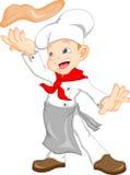 Desenhos animados do cozinheiro chefe do menino Foto de Stock Royalty Free