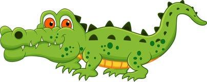 Desenhos animados do crocodilo Foto de Stock