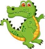 Desenhos animados do crocodilo Imagens de Stock Royalty Free