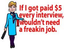 Desenhos animados do desemprego & da entrevista Foto de Stock