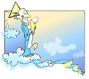 Desenhos animados do deus ?caucasiano?? Fotografia de Stock