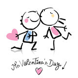 Desenhos animados do dia do Valentim Foto de Stock Royalty Free