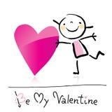 Desenhos animados do dia do Valentim Fotografia de Stock