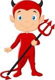 Desenhos animados do diabo vermelho Foto de Stock