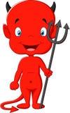 Desenhos animados do diabo vermelho Fotos de Stock Royalty Free