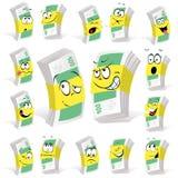 Desenhos animados do dinheiro de papel Fotografia de Stock