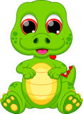 Desenhos animados do dinossauro do bebê ilustração do vetor