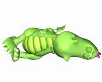 Desenhos animados do dragão - dormindo Fotos de Stock Royalty Free