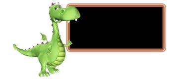 Desenhos animados do dragão - ensinando Fotografia de Stock