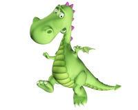 Desenhos animados do dragão - saltando Imagens de Stock