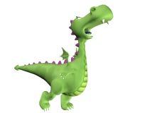 Desenhos animados do dragão - descolando Fotos de Stock