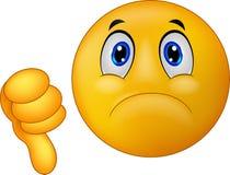 Desenhos animados do emoticon do sinal do desagrado Fotografia de Stock Royalty Free