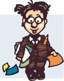Desenhos animados do empregado Fotografia de Stock Royalty Free