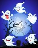Desenhos animados do fantasma de Dia das Bruxas Foto de Stock