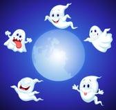 Desenhos animados do fantasma de Dia das Bruxas Imagens de Stock