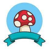 Desenhos animados do fungo isolados ilustração stock