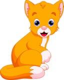 Desenhos animados do gato ilustração do vetor