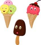 Desenhos animados do gelado Fotografia de Stock