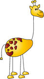 Desenhos animados do Giraffe Foto de Stock