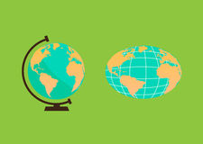 Desenhos animados do globo Fotografia de Stock