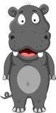 Desenhos animados do Hippopotamus Fotos de Stock
