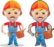 Desenhos animados do homem de funcionamento Fotos de Stock