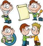 Desenhos animados do homem de negócios Fotografia de Stock