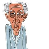 Desenhos animados do homem idoso. ilustração royalty free