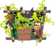 Desenhos animados do Hornbill Imagem de Stock
