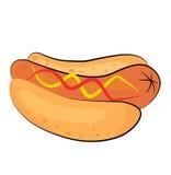 Desenhos animados do Hotdog Imagens de Stock